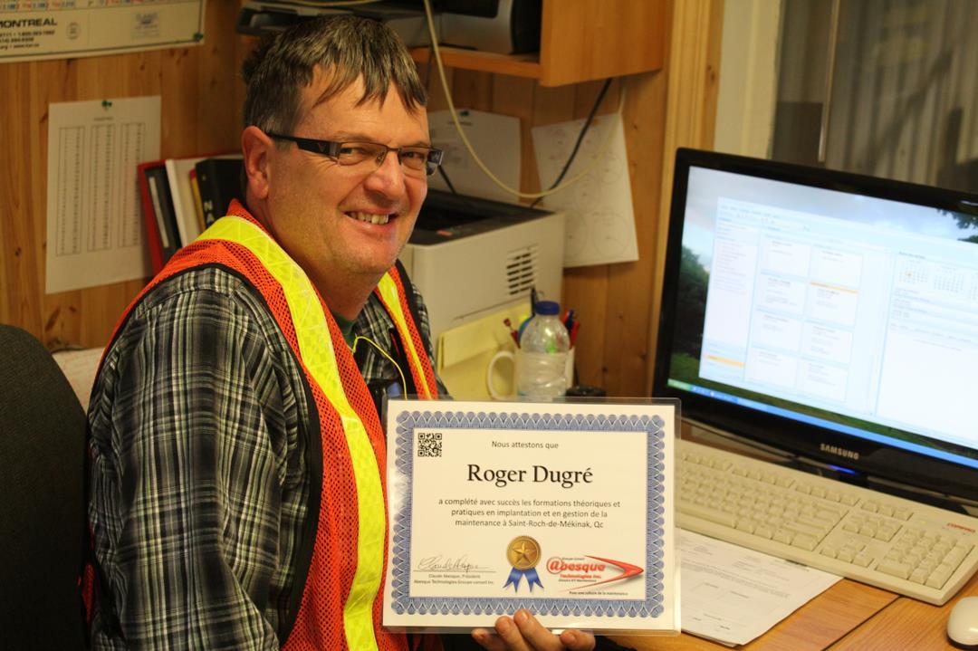 Roger Dugré, superviseur de maintenance chez Kruger inc. à St-Roch-de-Mékinak, 2012